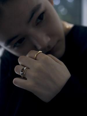 <9/20 予約販売>smoky quartz gem round p002 ring