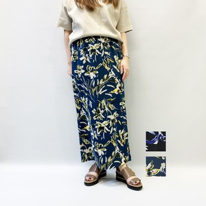 [SALE] OUTER SUNSET  (アウターサンセット) flower long skirt 2020春物新作 [送料無料]