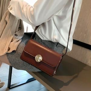 【バッグ】韓国風レトロ合わせやすいPUショルダーバッグ
