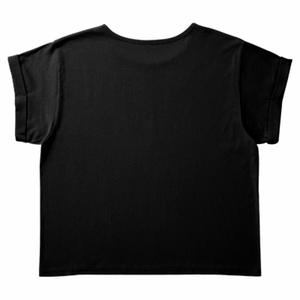 ロールアップTシャツ(レディース)★ハシビロコウ【ブラック】