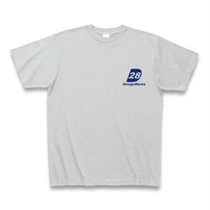 Tシャツ-28ストアロゴ(灰)