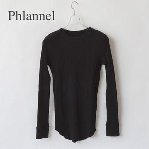 Phlannel/フランネル・Organic Cotton Random Rib Long Tee