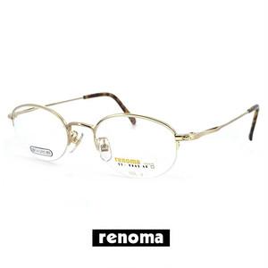 日本製 レノマ 眼鏡 ( メガネ ) renoma 9842-3 50mm メンズ 男性用