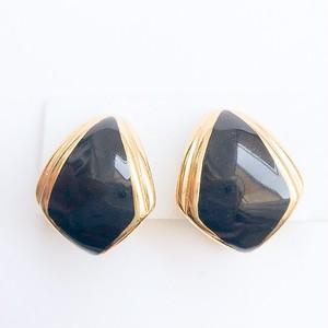 """""""Monet"""" black & gold earring[e-1040]"""