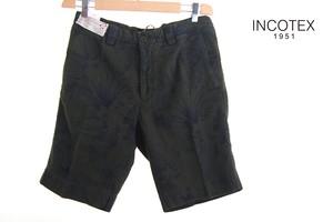 【9月末限定価格】インコテックス|INCOTEX|ボタニカル柄ショートパンツ