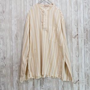 ユーロ ストライプ柄コットンシャツ [C278]