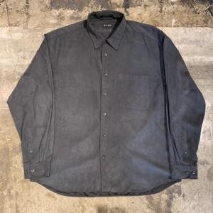 フェイクスウェードシャツ オーバーサイズ ビッグシルエット