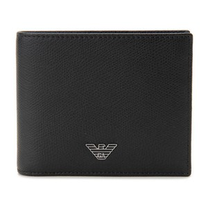 エンポリオ アルマーニ EMPORIO ARMANI メンズ 二つ折り財布 短財布 YEM122-YAQ2E-81072 ブラック ブラック