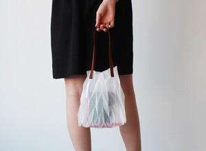 zero:Pleats bag - S(ヘリンボーン)プリーツ・バッグ S:ショルダーバッグ 軽い 透ける 透明感