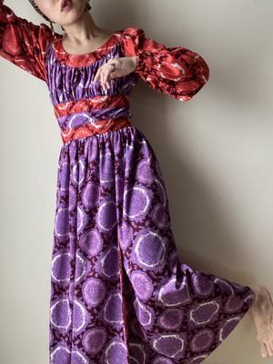60-70s Bohemian Long Dress