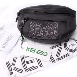 KENZO ケンゾー ミニウエストポーチ Black シルバー刺繍[全国送料無料] r016547