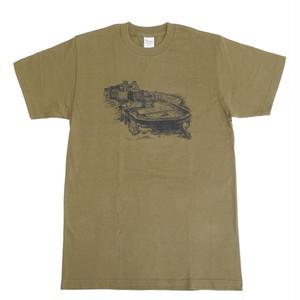 軍艦島ドローイングTシャツ(オリーブ)