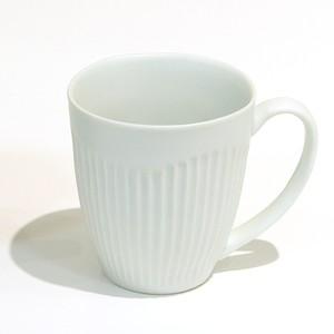 しのぎ彫マグカップ/モノトーン