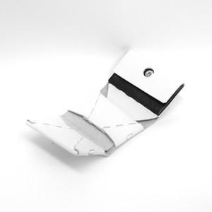 三つ折り財布 ホワイト×ブラック  ES-3W
