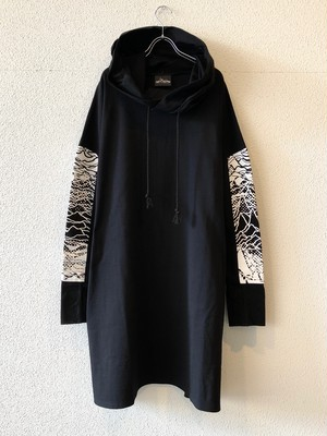 "WH【19008】HOODED LONG LENGTH CUTSAW ""WHITE"""