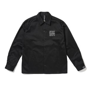 AVAILABLE NOWHERE STAY SAFE EMBROIDERY COACH JACKET(BLACK)