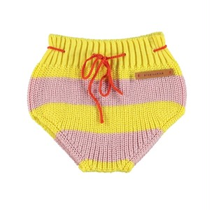 【piupiuchick】Knitted baby bloomer pink & yellow stripes (SS21.TRC2104)