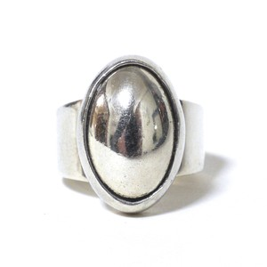 Vintage Sterling Silver Mexican Oval Domed Ring