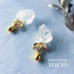 氷の花ゴールドピアス&イヤリング