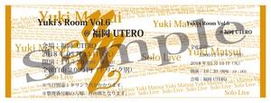 2018/05/15(火) Yuki's Room Vol.6 in 福岡 ライブチケット