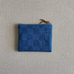 手織り藍染アクセサリーポーチ(Accessory case in-ei indigo)