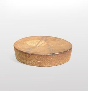焼き締め リバーシブル台鉢