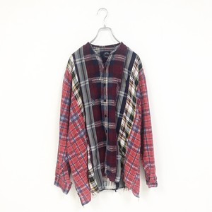REMAKE CHECK SHIRT(PURPLE)