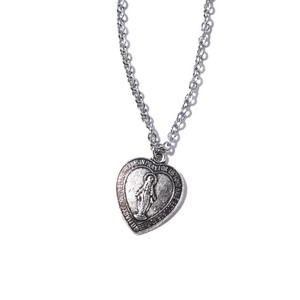 Heart Medal Maria Necklace(金属アレルギー対応)