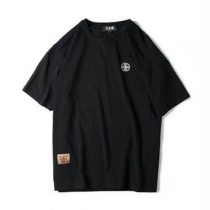送料無料/ユニセックス/大きいサイズ/黒/バック大きいロゴ/コットン/半袖Tシャツ