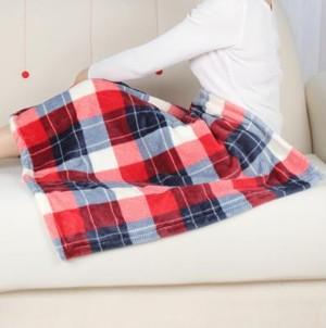 小さな ブランケット 毛布 ひざ掛け ベビー にも かわいい あったかい チェック柄 aaab891