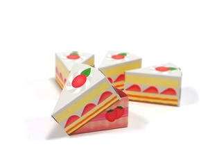 ペーパークラフト ケーキ 4個入りセット
