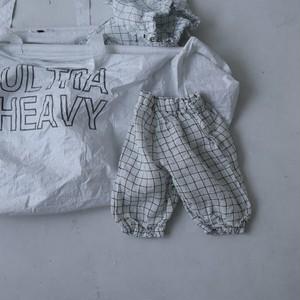 即納  leau  チェック七分パンツ 韓国子供服パンツ 子供服パンツ 子供服男の子 子供服女の子
