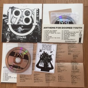 "1981 - ANTHEMS FOR DOOMED YOUTH CD(TOUR EDITION 7"" sleeve)"