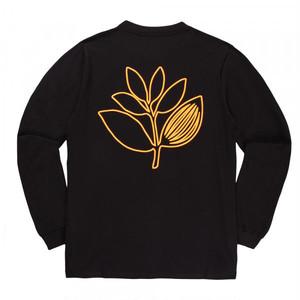 MAGENTA OUTLINE LS TEE BLACK M マゼンタ ロングTシャツ