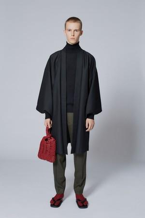 羽織 / T-KIMONO / Wool-Mohair / Black(With tailoring)