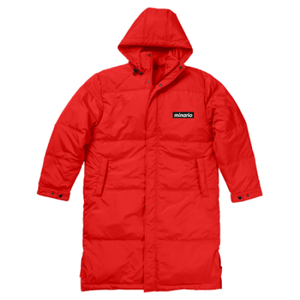 minario / BOX LOGO BENCH COAT RED