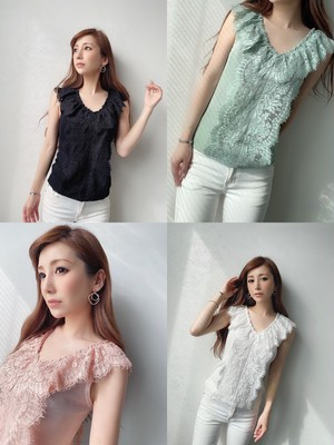 mocoa'sデザインlace TOPS ¥6,900+tax