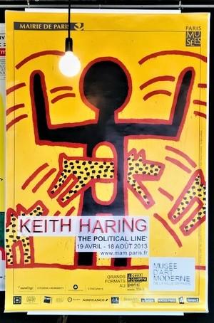Keith Haring キース・ヘリング The Political Line エキシビジョンポスター