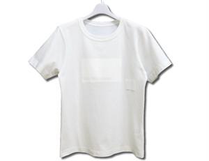 Paimy_17SS_BOXロゴTシャツ/ホワイト×ホワイト