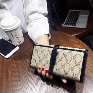 【bag】Korean 2018 new clutch  ladies  fashion simple folder purse