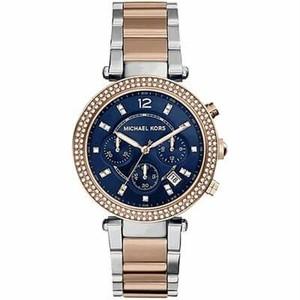 Michael Kors マイケルコースPARKER パーカーレディース 腕時計 MK6141 ネイビー/ローズゴールド×シルバー