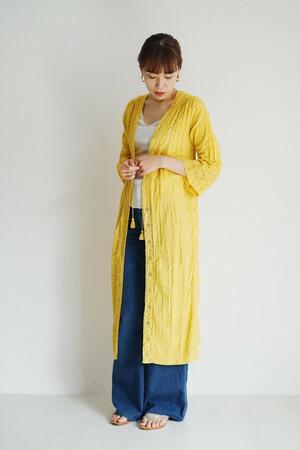 【saramallika】3color Jacquard Lace Gown