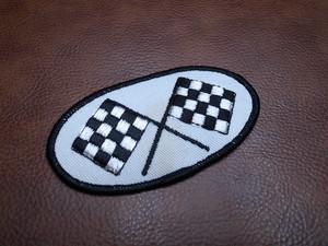 レーシングフラッグ オーバル Vintage Patch