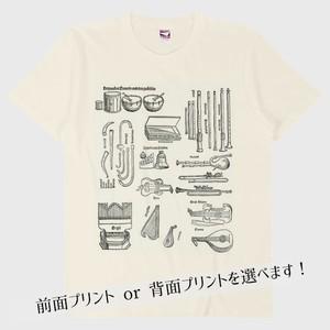 【Tシャツ】ルネサンスの楽器たち(ナチュラル)