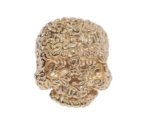 【TABOO】Brain-Skull Ring Gold-Coating