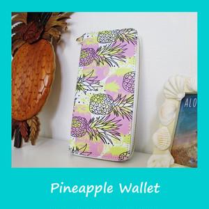 ハワイアン パイナップル 財布 (ピンク&イエロー)