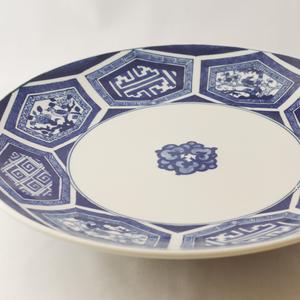 亀甲紋 八方絵皿