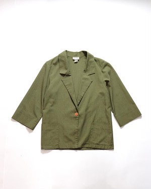 Unconstruction rayon jacket(khaki)