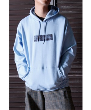 Needle Punch Box Logo PO Hoody -L.blue <LSD-BJ3T3>