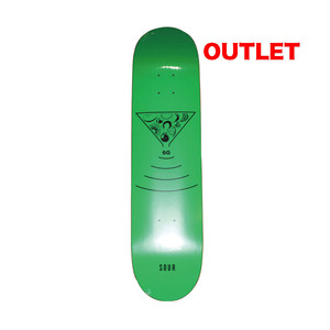 【アウトレット】SOUR 6G FLUORO GREEN 7.75INCH デッキテープ付き(EBONY GRIP)